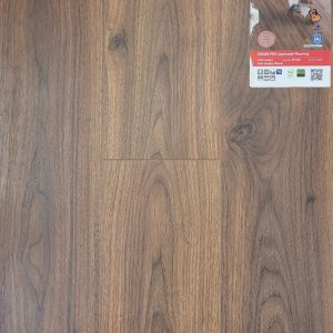 Dark langley walnut laminate flooring from Egger