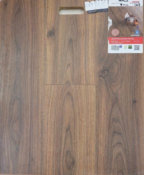 Dark langley walnut laminate flooring from Egger