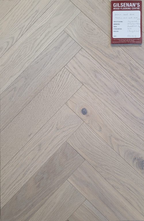 Mountain mist wood block parquet flooring