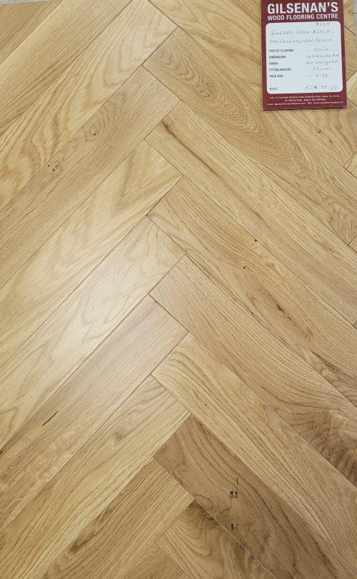 Quebec oak Country wood block parquet floor